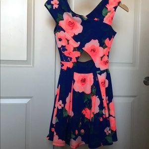 Floral mini party dress